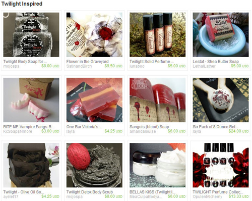 Twighlight Inspired Treasury on Etsy