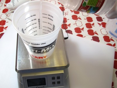 measure out your water