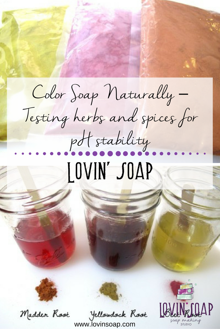 Color Soap Naturally – Testing Herbs and Spices for pH stability ...