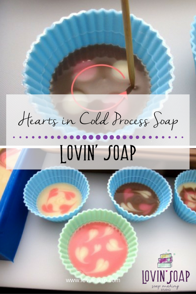 Hearts in Cold Process Soap