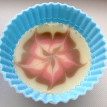 Flowers on Cold Process Soap
