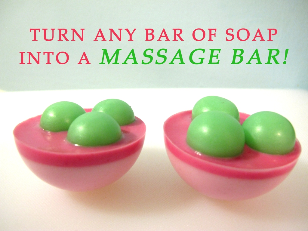 Massage bar soap