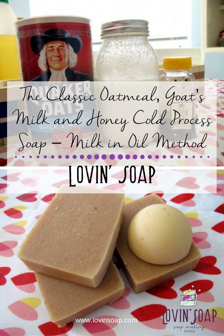 The Classic Oatmeal, Goat's Milk and Honey Cold Process Soap