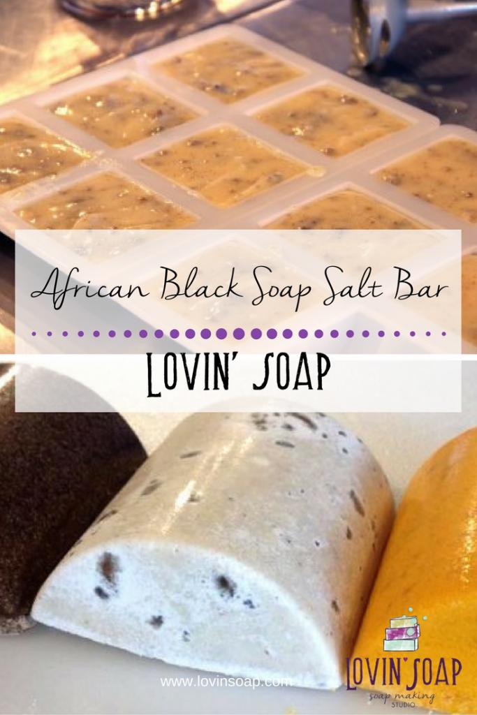 African Black Soap Salt Bar