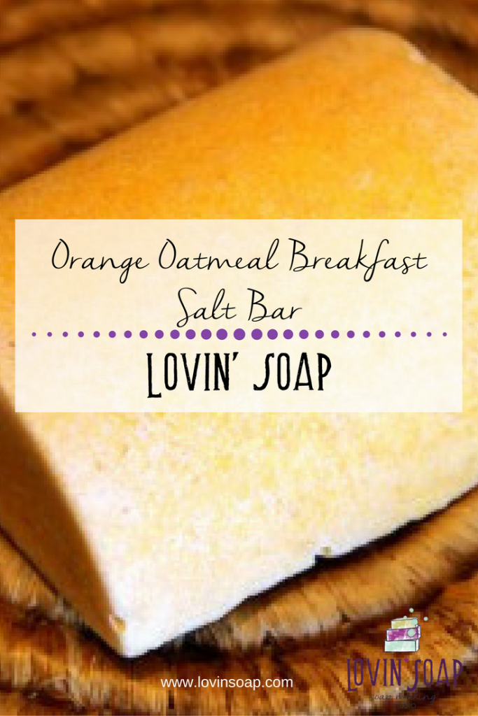 Orange Oatmeal Breakfast Salt Bar