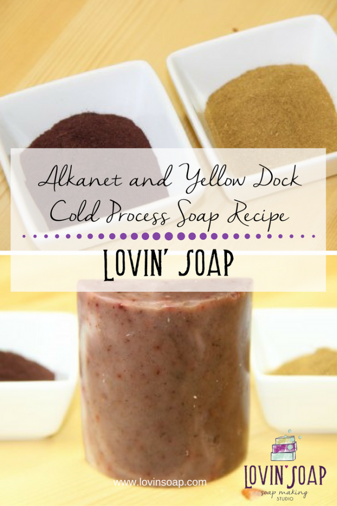 Alkanet and Yellow Dock Cold Process Soap Recipe