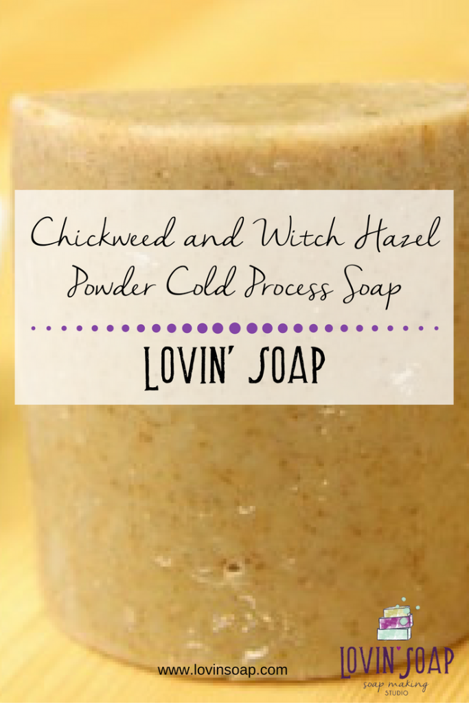 Chickweed and Witch Hazel Powder Cold Process Soap