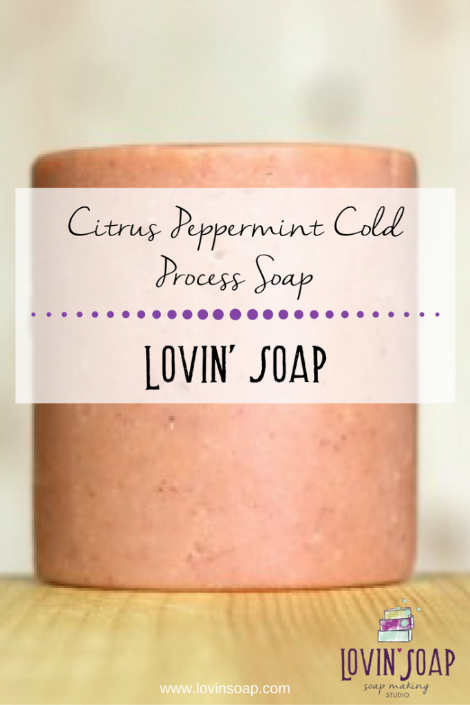 Citrus Peppermint Cold Process Soap