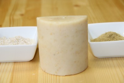 yarrow and oatmeal soap