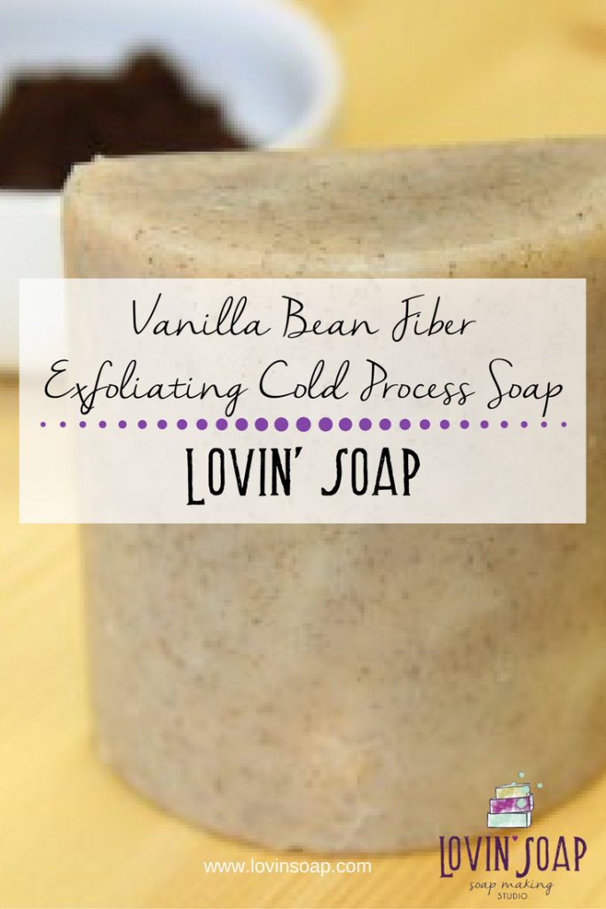 Vanilla Bean Fiber Exfoliating Cold Process Soap
