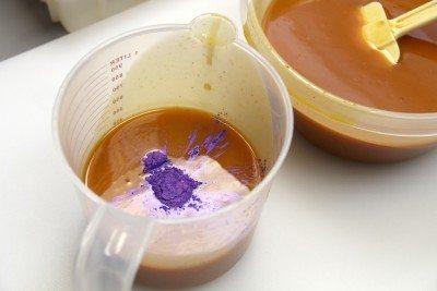 purple mica in soap