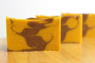 pumpkin lavender soap