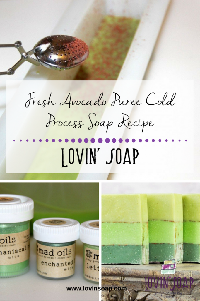 Fresh Avocado Puree Cold Process Soap Recipe