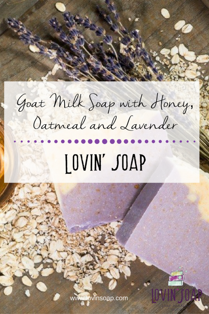Goat Milk Soap with Honey, Oatmeal and Lavender