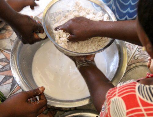 Making Coconut Oil in Senegal for Soap Making