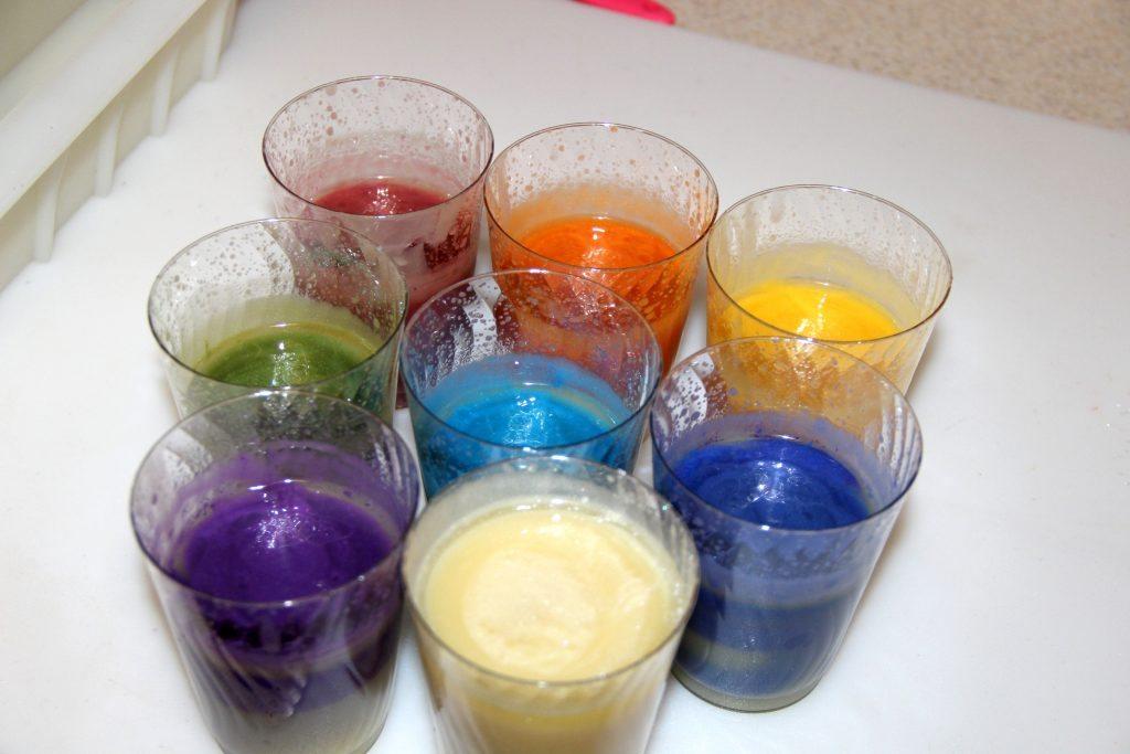 rainbow color soap