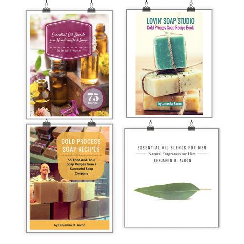 Soap Making Recipes + Essential Oil Blends Bundle (4 Digital Book Bundle)
