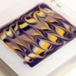 Royal Tiger Stripe Cold Process Soap Design Swirl