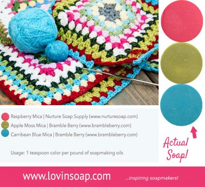 crochet soap color pallete