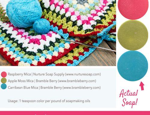 Colorful Crochet Soap Color Palette