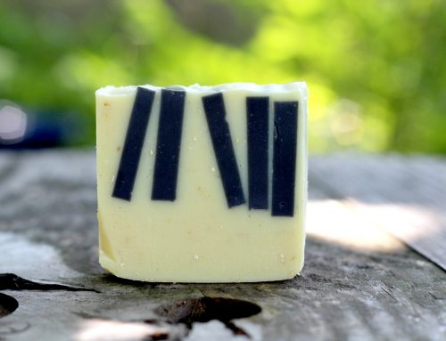 The Accidental Piano Soap – Charcoal Soap Embed Project