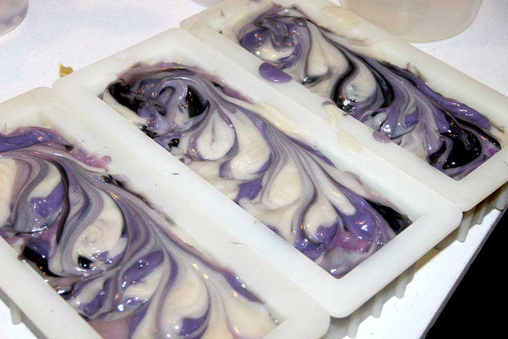 purple soap