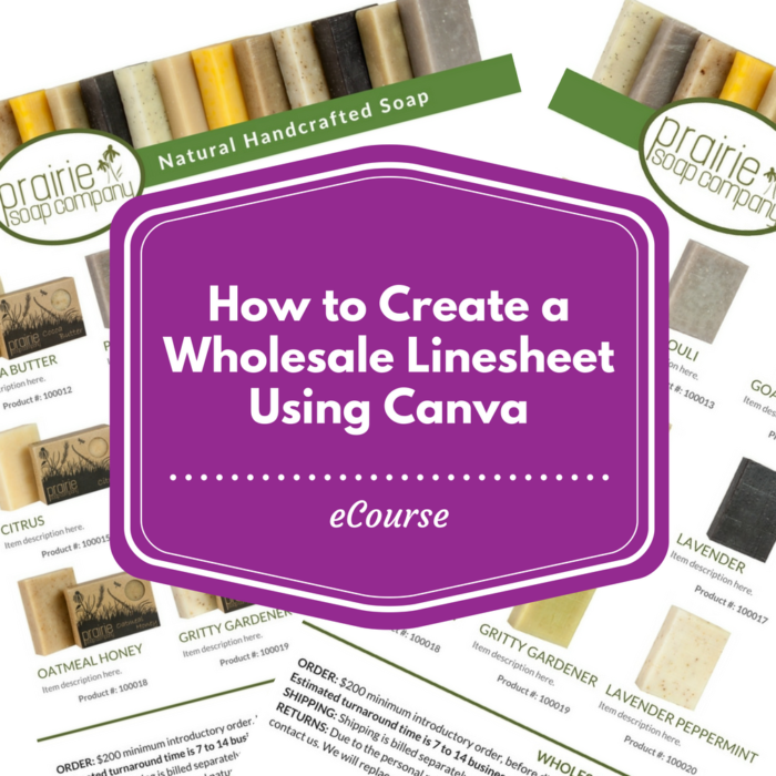 create wholesale linesheet