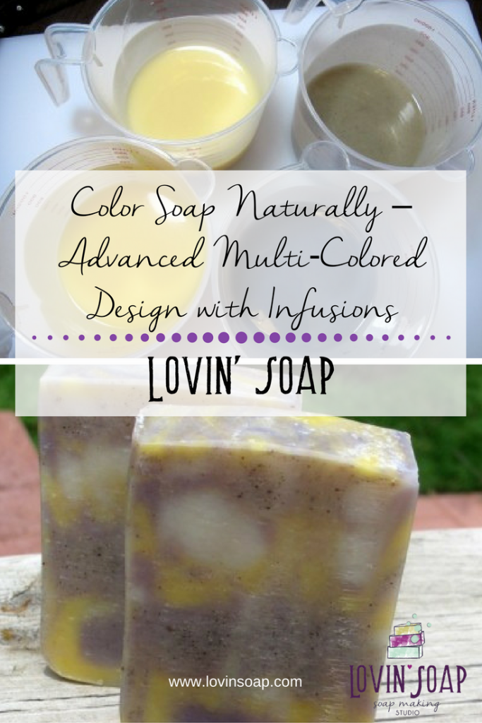 natural soap swirl with infusions