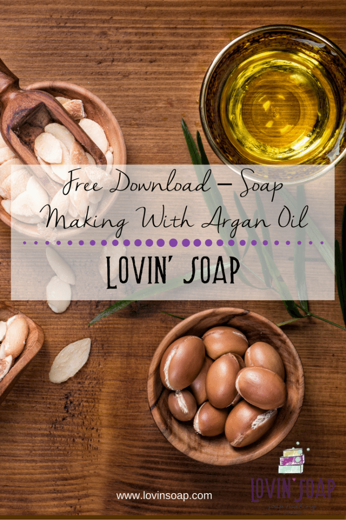 soap making with argan oil