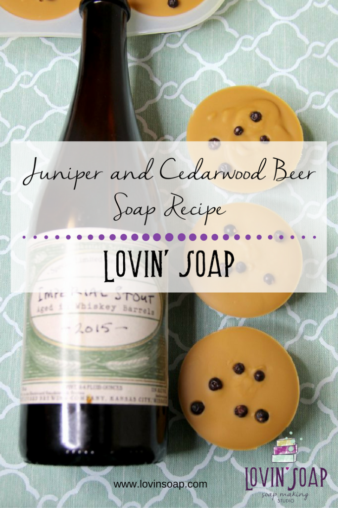 juniper and cedarwood beer soap recipe