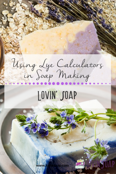 Lye calculators in soap making