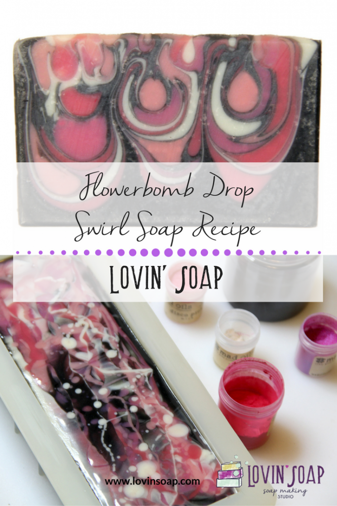 Flowerbomb Drop Swirl Soap Recipe