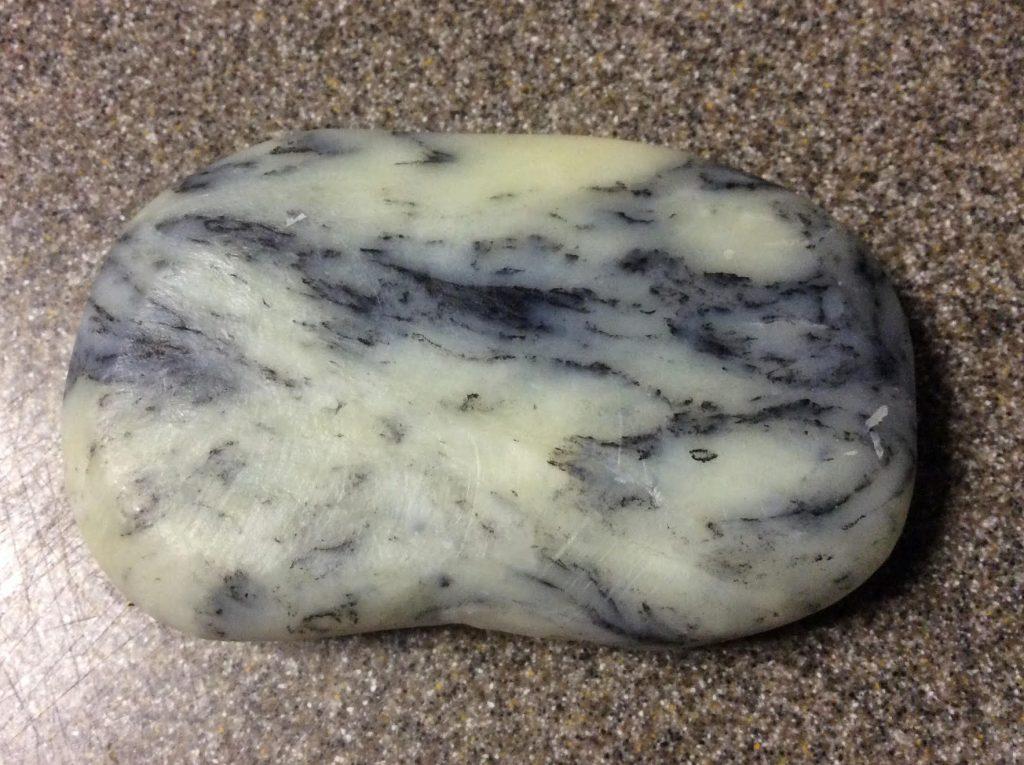 river rock soap