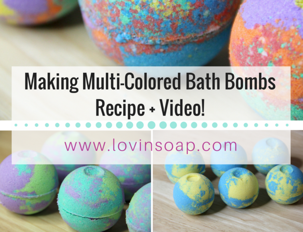 Making Multi-Colored Bath Bombs (DIY Bath Fizzies) Video