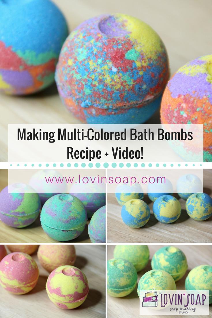 making multi colored bath bombs diy bath fizzies video lovin soap studio. Black Bedroom Furniture Sets. Home Design Ideas