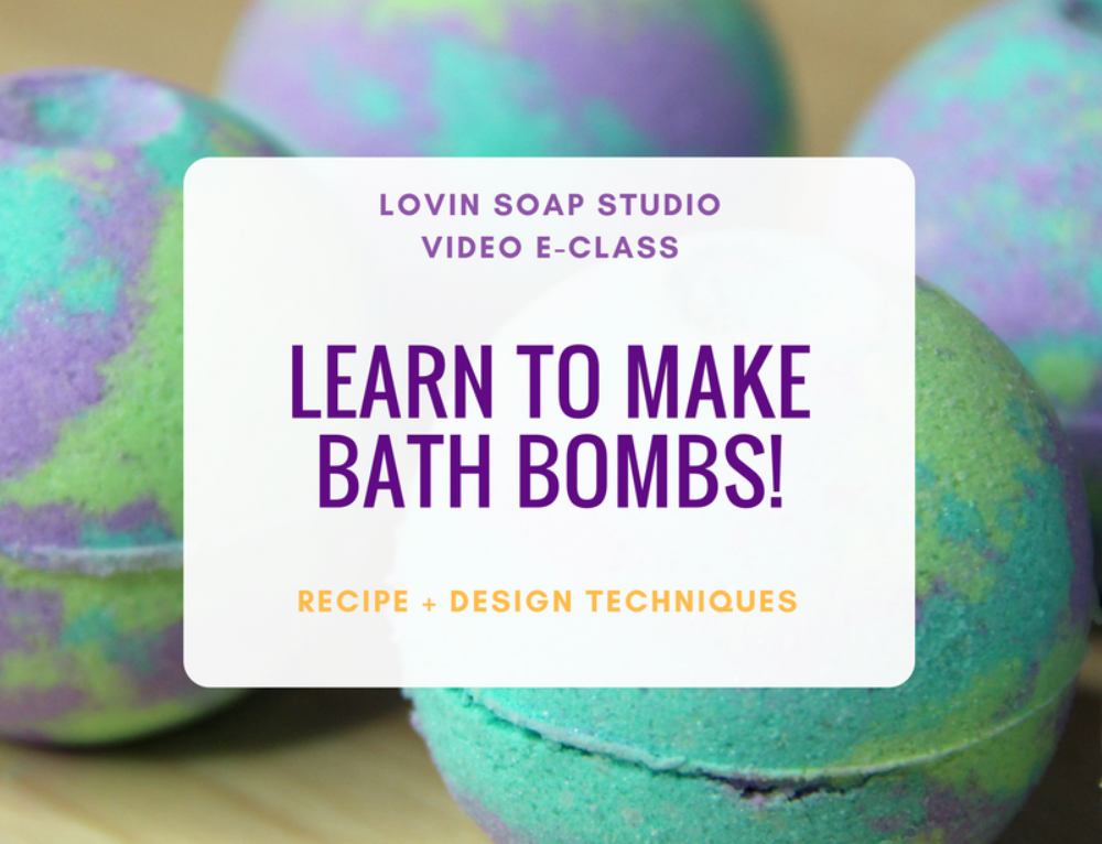 New E-Class at Lovin Soap – Learn to Make Bath Bombs