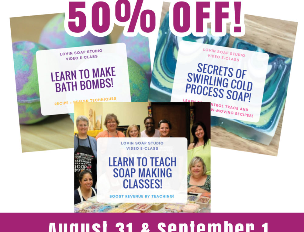Bath Bombs, Teaching Classes & Swirling – All E-Classes are 50% Off – Ends September 1