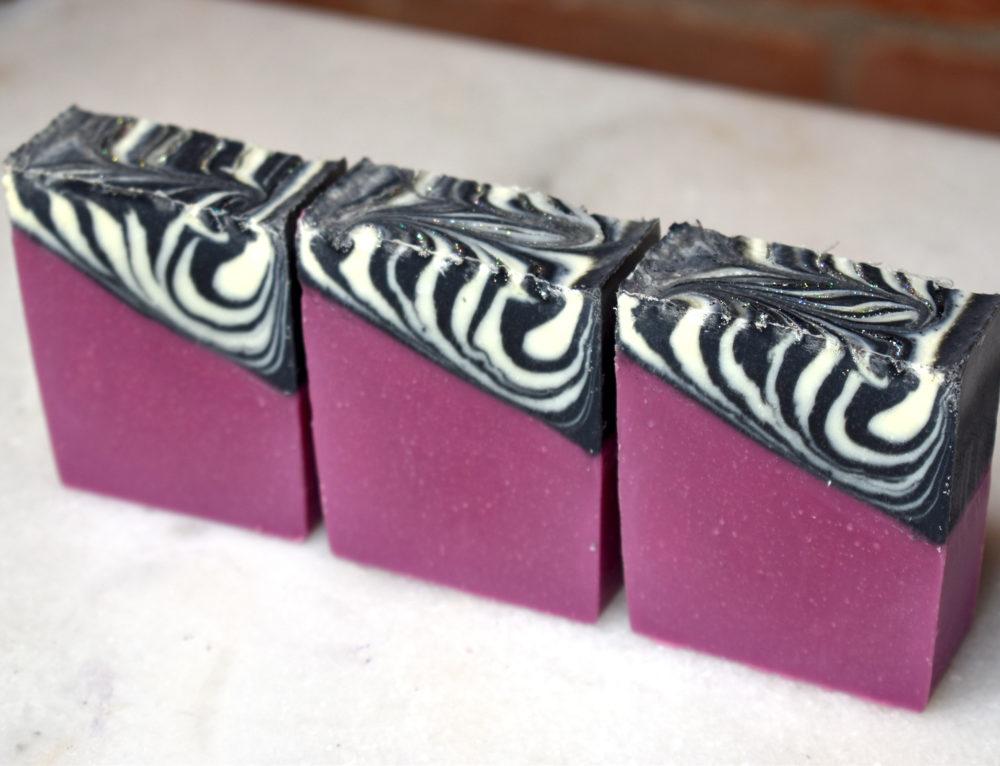 Zebra Glam Cold Process Soap Design (Video)