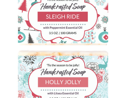 New Holiday Soap Labels added to the Soap Label Vault